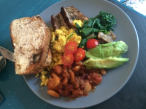 Full Breakfast with Scrambled Tofu