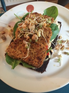 Pumpernickel Bread with Homemade Houmous & Tempeh